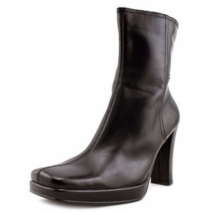 Nine West Watcher Square Toe Leather Ankle Boot